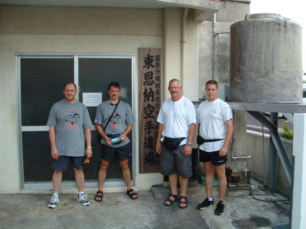 Outside sensei Higaonna dojo