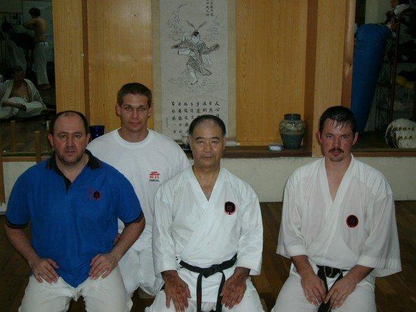 training sensei Higaonna dojo 2004